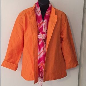 🌷SPRING🌷Chico's Orange Mandarin Collar Jacket